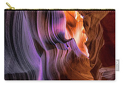 Carry-all Pouch featuring the photograph Antelope Canyon #6 by Phil Abrams