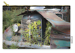 Carry-all Pouch featuring the photograph Antique Mack Truck by Charles Harden