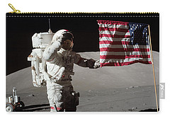 Apollo 17 Astronaut Salutes The United Carry-all Pouch by Stocktrek Images