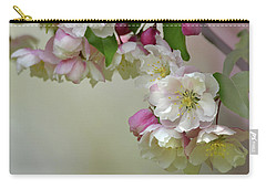 Carry-all Pouch featuring the photograph Apple Blossoms  by Ann Bridges