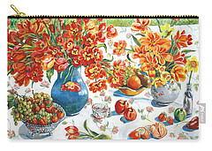 Apples And Oranges Carry-all Pouch by Alexandra Maria Ethlyn Cheshire