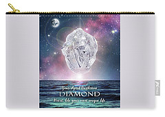 April Birthstone Diamond Carry-all Pouch