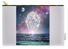 April Birthstone Diamond Carry-all Pouch