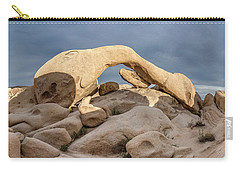 Arch Rock Panorama In Joshua Tree Carry-all Pouch by Joe Belanger