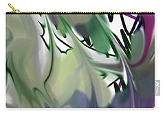 Carry-all Pouch featuring the digital art Art Abstract by Sheila Mcdonald