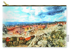 Arzachena Landscape With Clouds Carry-all Pouch