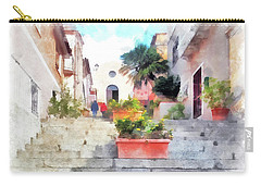 Arzachena Staircase And Church Of The Santa Lucia Carry-all Pouch
