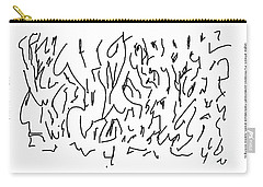 Asemic Writing 01 Carry-all Pouch