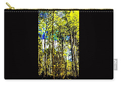 Aspen Forest Abstract Carry-all Pouch by Jennifer Lake
