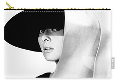 Carry-all Pouch featuring the photograph Audrey Hepburn As Holly Golightly by R Muirhead Art