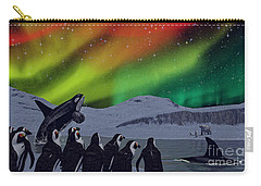 Carry-all Pouch featuring the digital art Aurora Borealis by Methune Hively