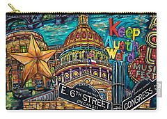 Austin Montage Carry-all Pouch by Patti Schermerhorn