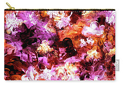 Autumn Floral Abstract Art Carry-all Pouch