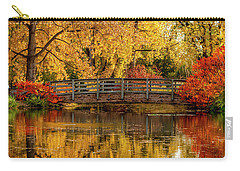 Autumn In The Park Carry-all Pouch by Teri Virbickis