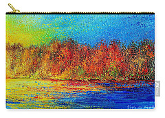 Carry-all Pouch featuring the painting Autumn by Teresa Wegrzyn