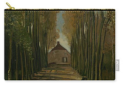 Carry-all Pouch featuring the painting Avenue Of Poplars In Autumn Nuenen, October 1884 Vincent Van Gogh 1853 - 1890 by Artistic Panda