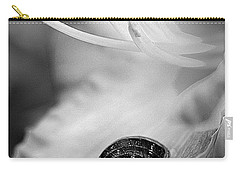 B And White Floral With Snail Carry-all Pouch
