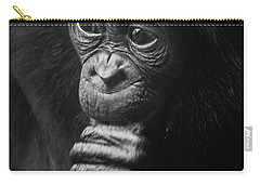Carry-all Pouch featuring the photograph Baby Bonobo Portrait by Helga Koehrer-Wagner