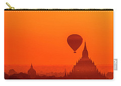 Bagan Pagodas And Hot Air Balloon Carry-all Pouch