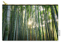 Bamboo Forest At Arashiyama Carry-all Pouch
