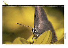 Banded Hairstreak On Coreopsis Carry-all Pouch
