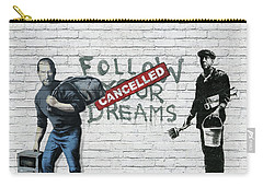 Banksy - The Tribute - Follow Your Dreams - Steve Jobs Carry-all Pouch