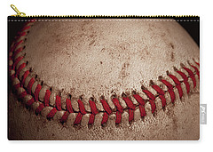Carry-all Pouch featuring the photograph Baseball Seams by David Patterson