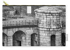 Carry-all Pouch featuring the photograph Battery Weed At Fort Wadsworth Nyc by Susan Candelario