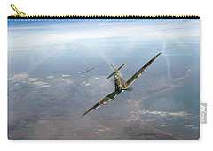 Carry-all Pouch featuring the photograph Battle Of Britain Spitfires Over Kent by Gary Eason