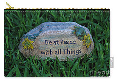 Carry-all Pouch featuring the photograph 1- Be At Peace by Joseph Keane