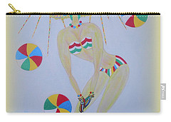 Beach Ball Surfer Carry-all Pouch