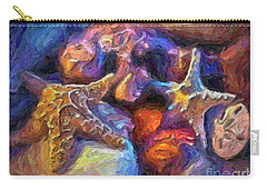 Carry-all Pouch featuring the photograph Beach Finds by Walt Foegelle