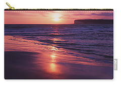 Carry-all Pouch featuring the photograph Beach Sunset by Will Gudgeon