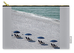 Carry-all Pouch featuring the photograph Beach Therapy 1 by Marie Hicks
