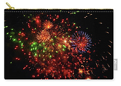 Beautiful Fireworks Against The Black Sky Of The New Year Carry-all Pouch