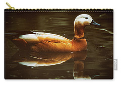 Carry-all Pouch featuring the photograph Beautiful Rust Goose by The 3 Cats