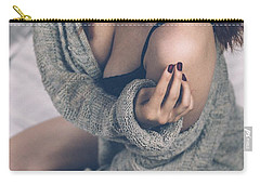 Beautiful Woman On Bed Carry-all Pouch