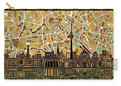 Berlin City Skyline Abstract Carry-all Pouch by Bekim Art
