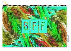 Carry-all Pouch featuring the photograph Best Friends Forever by Bonnie Bruno