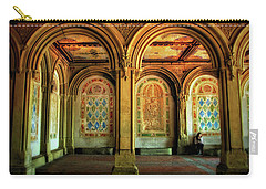 Carry-all Pouch featuring the photograph Bethesda Terrace Arcade by Jessica Jenney