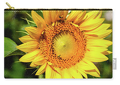 Carry-all Pouch featuring the photograph Big Sunflower by Anna Louise