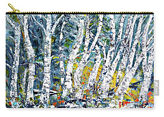 Birches Pond Carry-all Pouch by AmaS Art