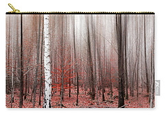Carry-all Pouch featuring the photograph Birchforest In Fall by Hannes Cmarits