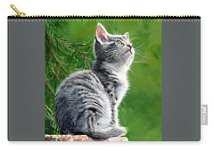 Carry-all Pouch featuring the painting Bird Watching by John Neeve