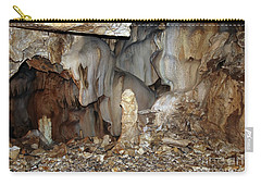 Carry-all Pouch featuring the photograph Bizarre Mineral Formations In Stalactite Cavern by Michal Boubin