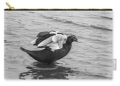 Black And White 12 Carry-all Pouch