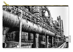 Black And White - Bethlehem Steel Mill Carry-all Pouch by Bill Cannon