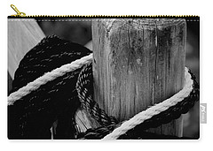 Carry-all Pouch featuring the photograph Black And White by Corinne Rhode