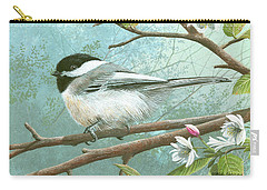 Black Cap Chickadee Carry-all Pouch by Mike Brown