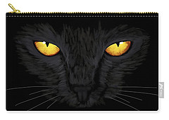 Carry-all Pouch featuring the painting Superstitious Cat by Anastasiya Malakhova